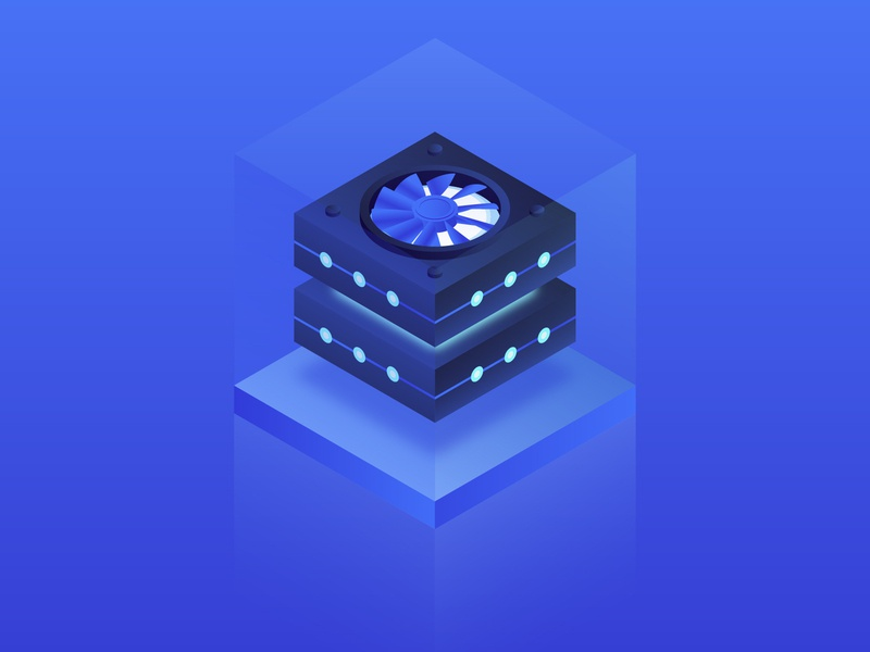 Cryptocurrency mining equipment coin blur electronic technology icons finance digital farm crypto exchange cryptocurrency currency blue mining technology blockchain bitcoin neon miner isometry illustration gradient