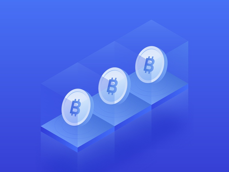 Bitcoin. Isometric bit coin icon. concept 3d design gradient cryptocurrency crypto neon illustration mining trading platform isometric exchange ethereum ethnic bitcoins cloid btc bitcoin banking