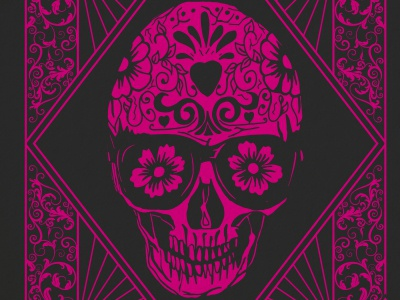 Skull Day of the Dead Birthday Card