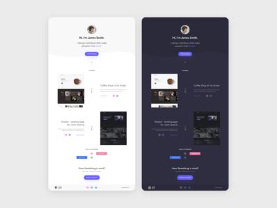 Single page Portfolio UI