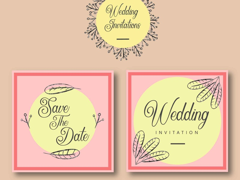 Wedding Invitations Template By Rustype On Dribbble