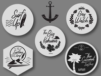 Summer & Nautical Logo Badges