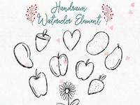 Kitchen Watercolor Element