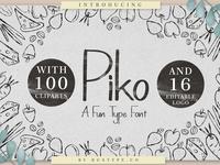 Piko A Fun Type Font