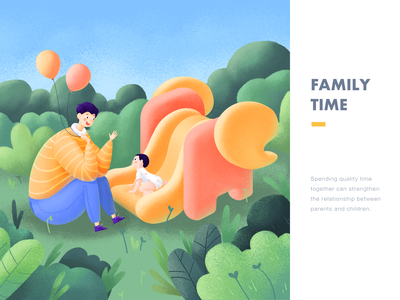 Family time family illustration