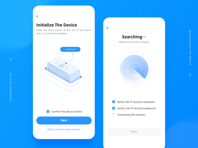 Smart Speaker APP Design 2.5d isometric illustration blue speaker voice device