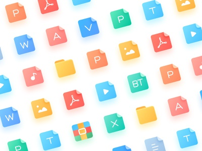 File icons word folder music picture video ppt design documents files icons ui
