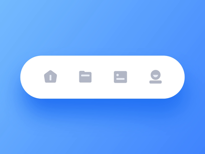 Tab Bar Animation app files mine picture folder navigation tabs animation blue