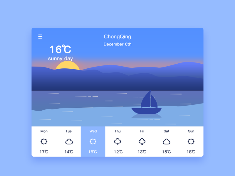IPad weather 插图 ux web ui