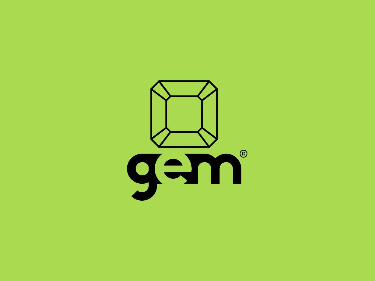 Gem type lettering clean vector typography professional logo mordern logo minimalist logo minimal logo logo design illustrator illustration identity icon flat design creative logo clean logo branding