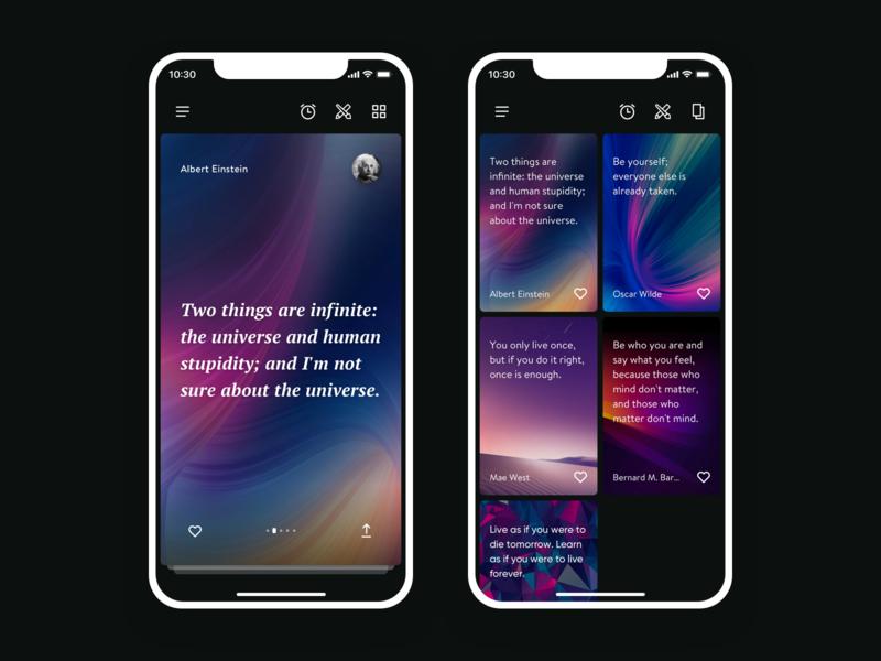 Daily Quotes App app  design app ui ux design