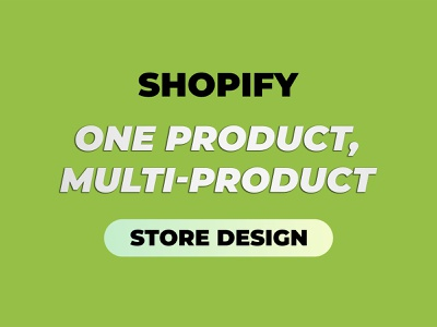 Shopify Store Design: Demo Projects