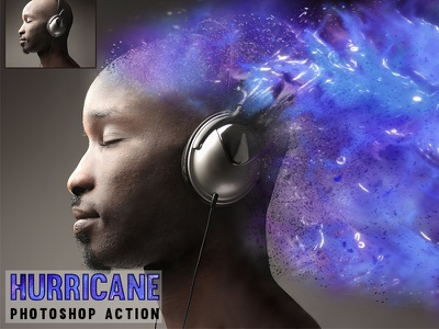Hurricane Photoshop Action 1click action atn file atn photo effects galaxy effect dispersion color photo action action photoshop hurricane