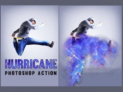 Hurricane Photoshop Action photoshop effects photo hurricane galaxy effect dispersion color file atn action 1click