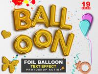 Foil Balloon Text Effect Photoshop Action