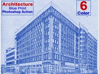 Architecture Blueprint Photoshop Action