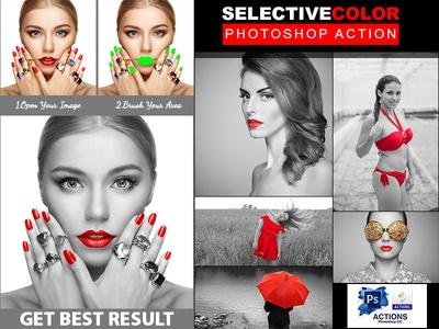 Selective Color Photoshop Action selective color selective potoshop pixels pixel photoshop style photoshop actions photoshop action photo effect photo image effect image fashion effects effect color black and white black  white atn action