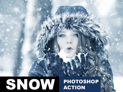 Snow Effect Photoshop Action illustration design atn file dispersion art 1click action photoshop action photo effect color effect action photoshop atn