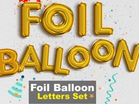 Foil Balloon Letters Set