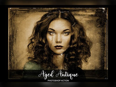 Aged Antique Photoshop Action smoothatn professional pro photoshop sketch photoshop photo frame photo old image frame frame effects antique aged actions action