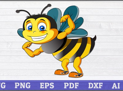 Strong bee cartoon, vector illustration, Bee svg, Bee baby bee gifts for woman queen bee laughing bee flying bee gym bee bodybuilder bee cute bee bee clipart bee silhouette bee lover cartoon bee cartoon svg strong bee strong bee svg vector illustration strong bee cartoon
