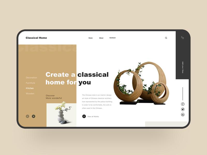 Web Design-part 3 typography home plane home furnishing fashion web ui icon interface colour design