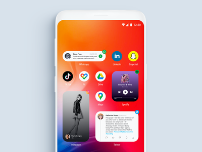 Fake Project Real Process - Android Widgets uxui uidesign android app design android app android uxdesign visual design ux ui widgets