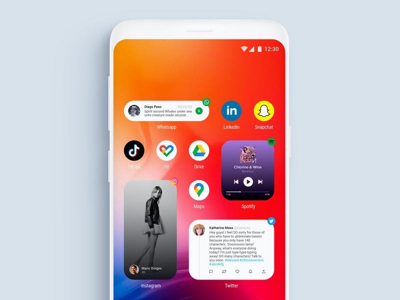 Fake Project Real Process - Android Widgets uxui uidesign android app design android app android uxdesign visual design ux ui widgets