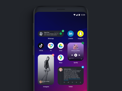 Fake Project Real Process - Android Widgets widgets uxui uxdesign ux uidesign ui visual design android app design android app android