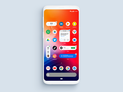 Fake Project Real Process - Google Widgets widgets visual design uxui uxdesign ux uidesign ui android app design android app android