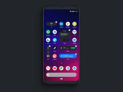 Fake Project Real Process - Google Widgets widgets visual design uxui uxdesign ux uidesign ui android app design android app android
