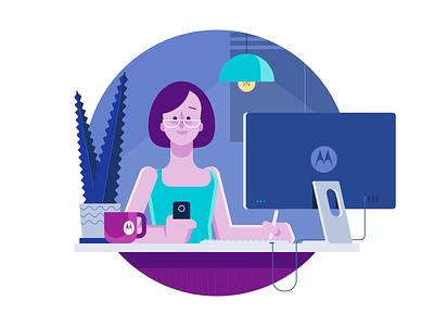 Moto App - Motorola vector illustration design visual design