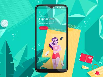Moto Actions - Flip for DND Screen ui visual design
