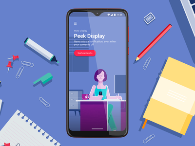 Moto Display - Peek Display illustration ui visual design