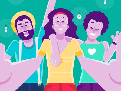 Selfie - Welcome to Moto illustration visual design