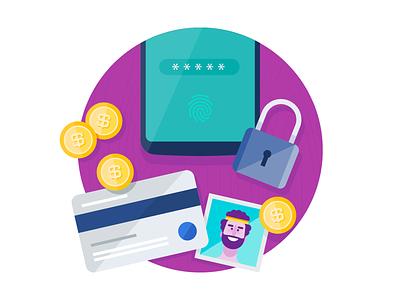 Moto Tips - Security & privacy mobile design vector illustration design branding visual design