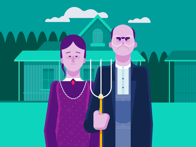 American Gothic Illustration