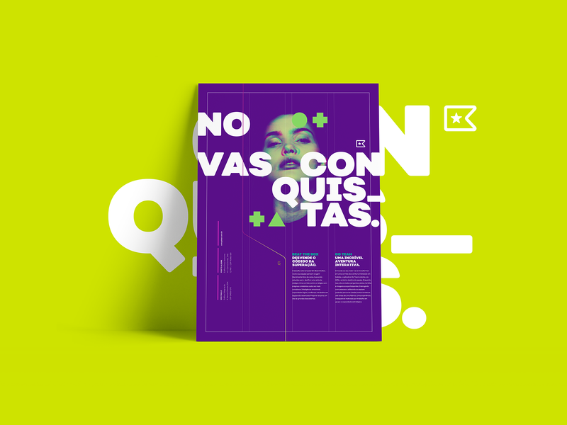 Posters Conquistar graphic design poster design visual design visual identity brand design branding
