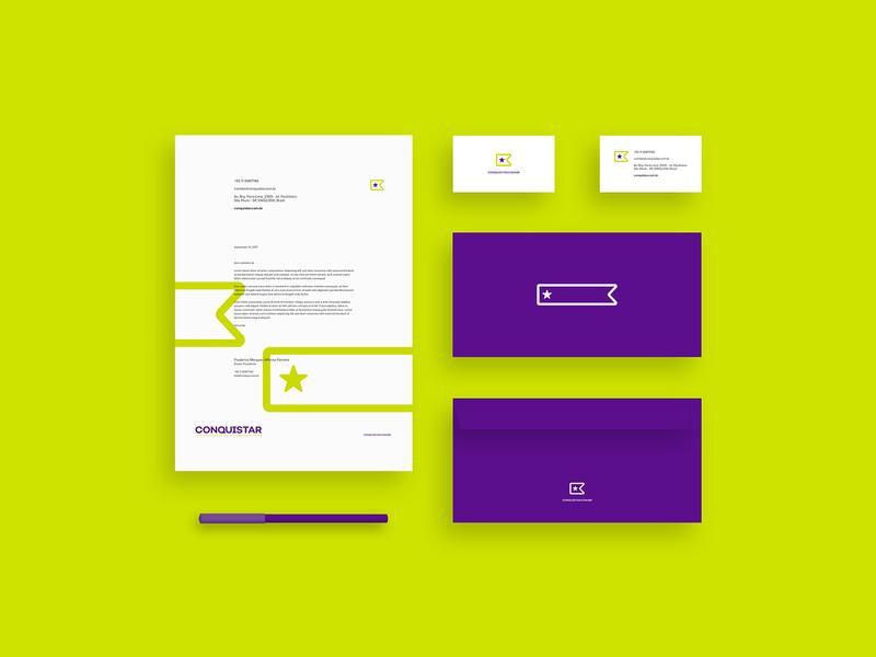 Conquistar Stationery graphic design visual design visual identity brand design branding brand elements