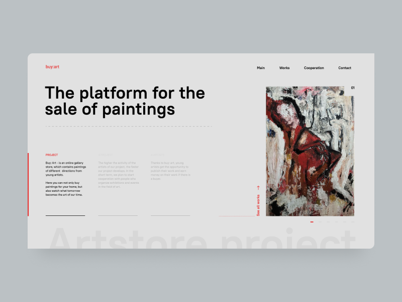 Buyart2 minimal logo illustration type ux ui website vector typography design