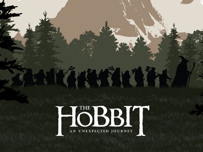 The Hobbit hobbit dwarves lonely mountain poster