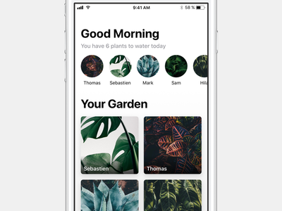 Potted iOS 11 water garden potted plants reminder app 11 ios mobile