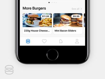 Tab Bar Icons for Burger App 2.0