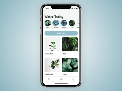 Potted Cont. 11 reminder water gardening plants ui ios app potted x iphonex