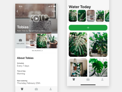 Profile - Potted tracking profile wip ux ui app reminder water plant potted