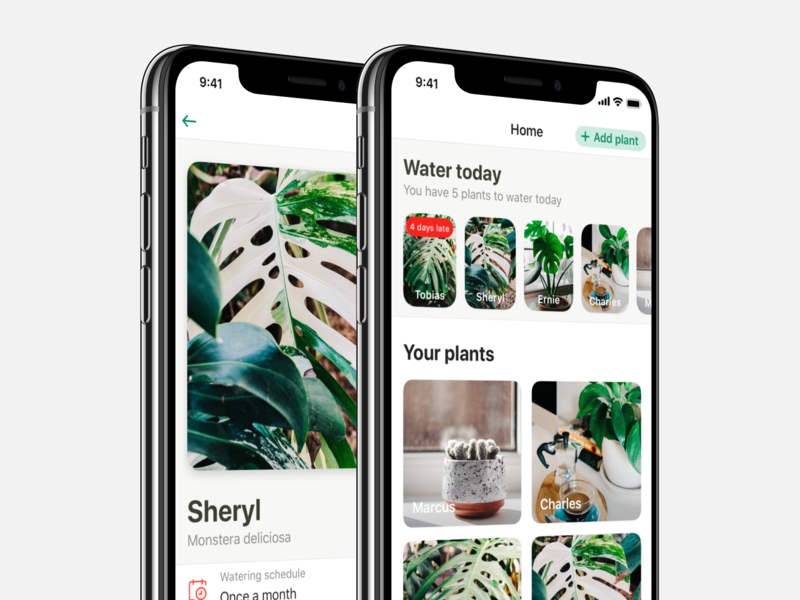 Potted V1.1 iphone ux wip garden app mobile water reminder plant potted ios ui