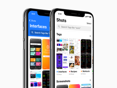 Shotsss - Working Title photos photo library inspirartion organize organisation files productivity iphone mobile pictures screenshot tags ux wip ui app ios