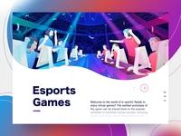 Esports Landing Page videogame esport timberlake branding ui sketch design web landingpage illustration