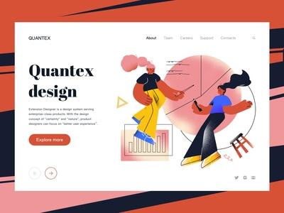 Quantex Design Landing page