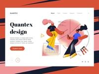 Quantex Design Landing page affinitydesigner vector falt timberlake landscape branding ui sketch design web illustration landingpage